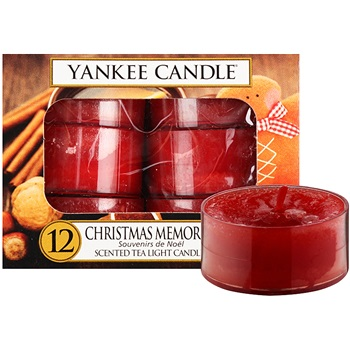 Yankee Candle Christmas Memories čajová svíčka 12 x 9,8 g