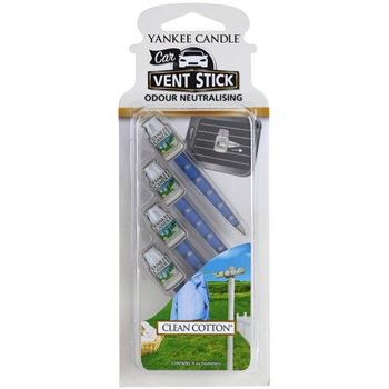 Yankee Candle Clean Cotton vůně do auta 4 ks