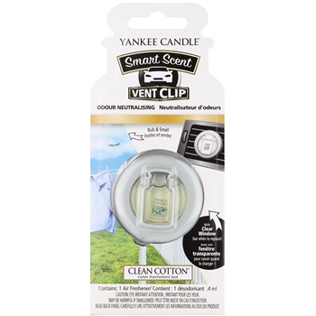 Yankee Candle Clean Cotton Vůně do auta 4 ml clip