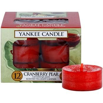 Yankee Candle Cranberry Pear čajová svíčka 12 x 9,8 g