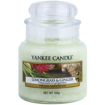 Yankee Candle Lemongrass & Ginger vonná svíčka 104 g Classic malá
