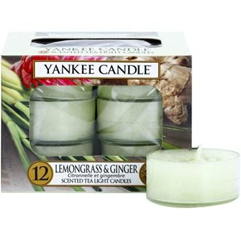 Yankee Candle Lemongrass & Ginger čajová svíčka 12 x 9,8 g