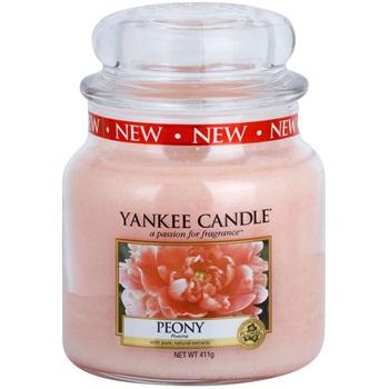 Yankee Candle Peony vonná svíčka 411 g Classic střední