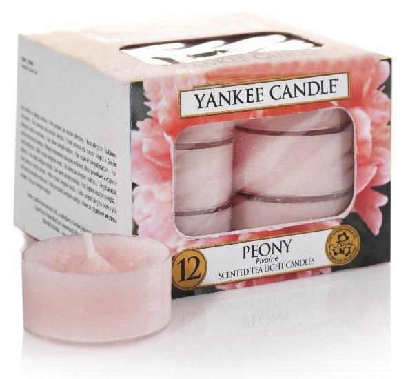 Yankee Candle Peony čajová svíčka 12 x 9,8 g