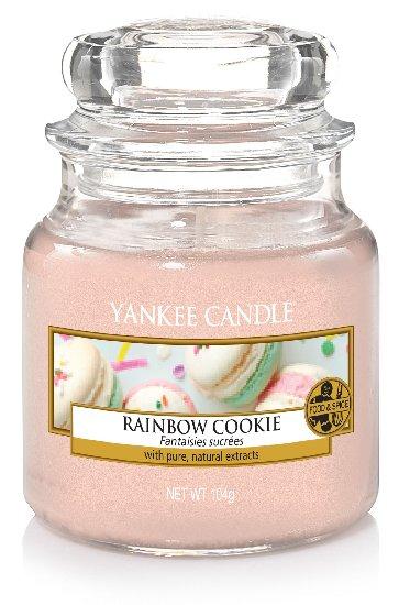 Yankee Candle Rainbow Cookie vonná svíčka 104 g Classic malá