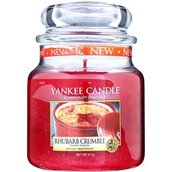 Yankee Candle Rhubarb Crumble vonná svíčka 411 g Classic střední