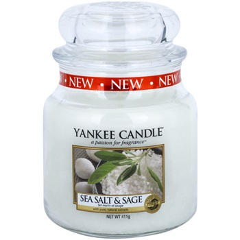Yankee Candle Sea Salt & Sage vonná svíčka 411 g Classic střední