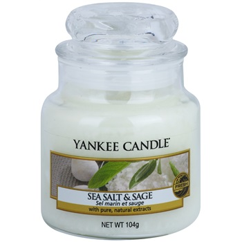 Yankee Candle Sea Salt & Sage vonná svíčka 105 g Classic malá