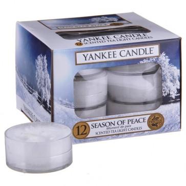 Yankee Candle Season Of Peace čajová svíčka 12 x 9,8 g
