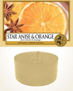 Yankee Candle Star Anise & Orange čajová svíčka vzorek 1 ks