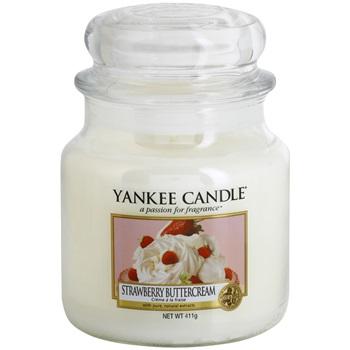 Yankee Candle Strawberry Buttercream vonná svíčka 411 g Classic střední