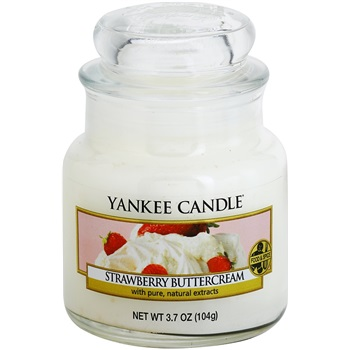 Yankee Candle Strawberry Buttercream vonná svíčka 104 g Classic malá