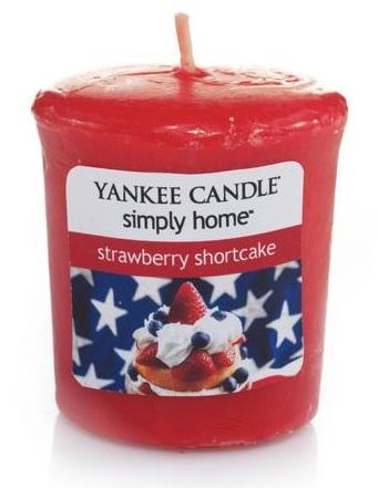 Yankee Candle Strawberry Shortcake votivní svíčka 49 g