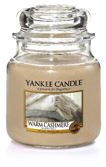 Yankee Candle Warm Cashmere vonná svíčka 411 g Classic střední