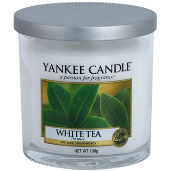 Yankee Candle White Tea vonná svíčka 198 g Décor malá